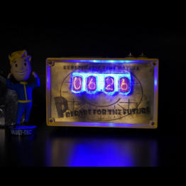 fallout nixie tube clock, bubblehead, nixie tube clock