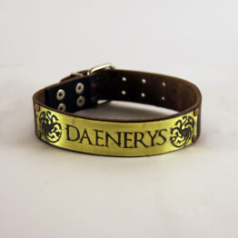 game of thrones dog collar, personalized dog collar, targaryen dog collar