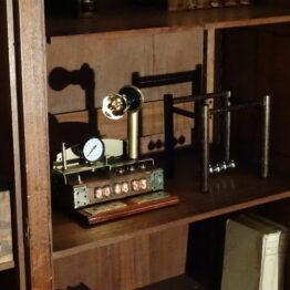 nixie tube clock, steampunk, escape room nixie tube clock