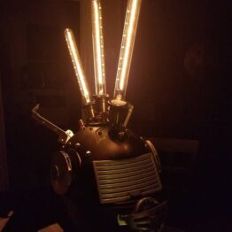 Steampunk lamp, helmet lamp, industrial lamp, steampunk helmet