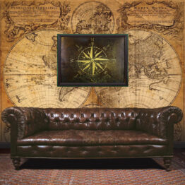 nautical compass, Engineer gift, compass, wall art