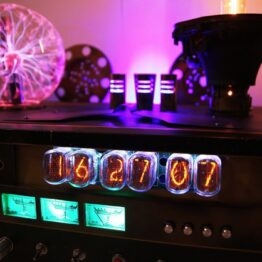 nixie tube clock, plasma, steampunk, gift