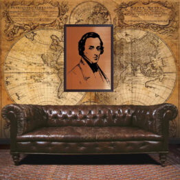 Frédéric Chopin, gift, wall art, portrait
