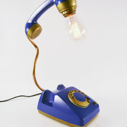 mid century lamp, retro lamp, telephone lamp