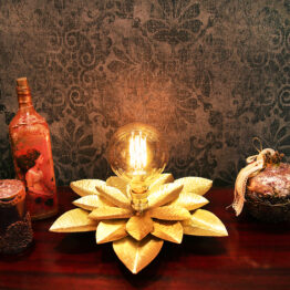 brass flower, brass flower lamp